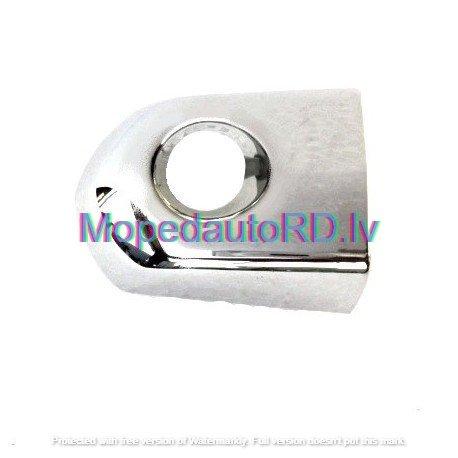 hromēts stūra gabals ārējam durvju rokturim ar atslēgas caurumu